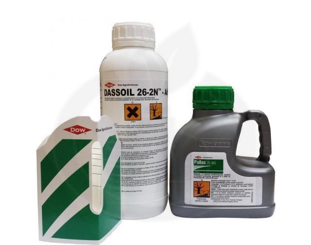 dow agro sciences erbicid pallas 75wg 500 g adjuvant 1 litru - 2