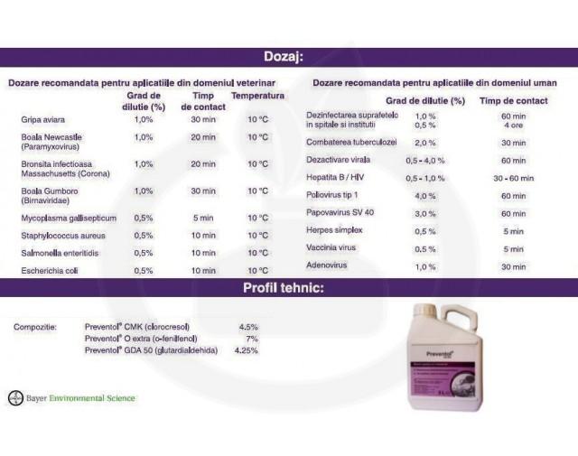 bayer dezinfectant preventol cd 601 3 litri - 2