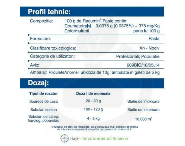 bayer rodenticid racumin paste 50 kg - 4