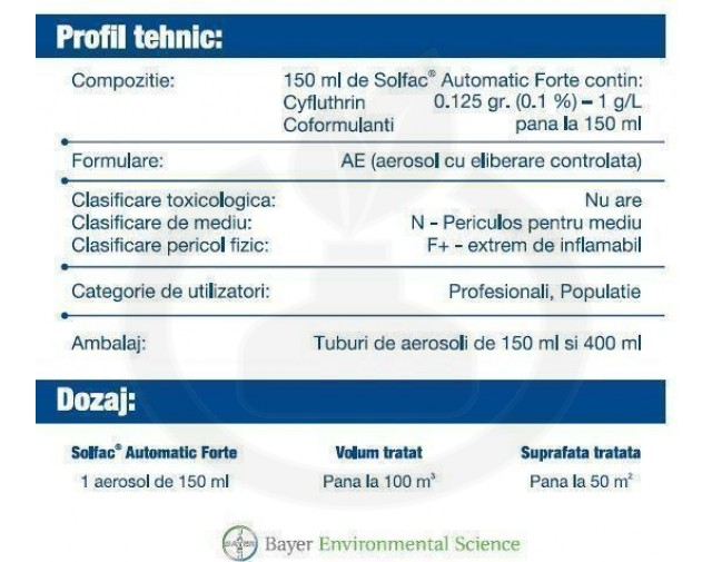 bayer insecticid solfac automatic forte 150 ml - 4