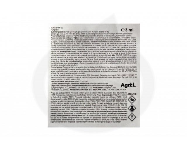 syngenta fungicid topas 100 ec 3 ml - 2