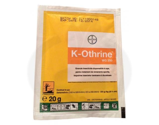 bayer insecticid k othrine wg 250 20 g - 5